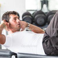 Man Doing Exercises for Abdominal