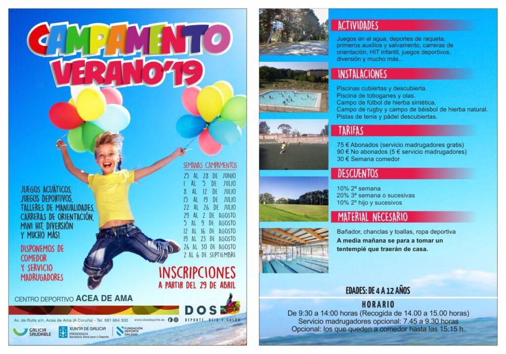 Campamento de Verano 2019 - DOS Deporte Acea de Ama (A Coruña)